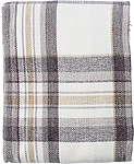 100% Polyester (600 gr/m2) blanket, extra soft thanks to the chenille yarn used, brown