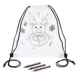 Drawstring bag for colouring COLOURFUL ELK