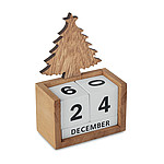 Wooden Christmas tree block perpetual desktop calendar