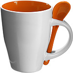 Coffee mug with spoon Orange