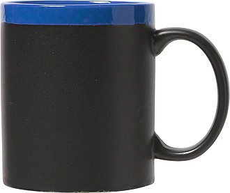 Ceramic mug with chalksCobalt blue