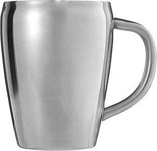 Set of two steel mugsSilver