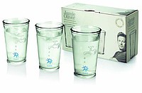 JO 3pcs recycled water glasses