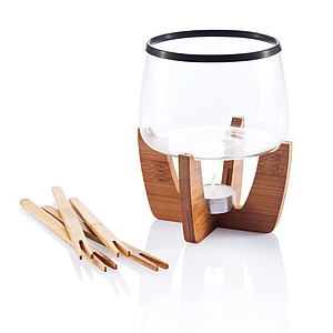 Cocoa chocolate fondue set, black