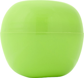 Plastic box for an apple.Pale green