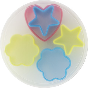5 pcs, plastic cookie cutter set