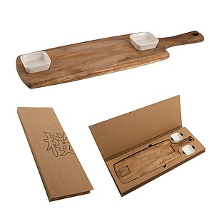 VS TAKAOKA Practical set of serving board and two ceramic bowls