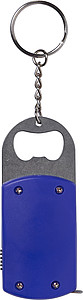 Metal bottle opener with steel keyring,