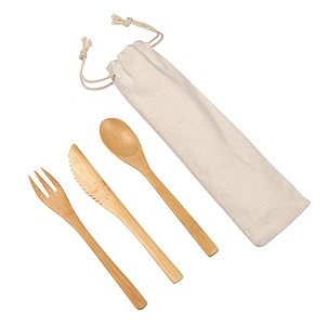 "Bamboo cutlery set ""Natural trip"""