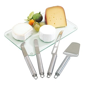 "Cheese cutlery set ""Cheese"" consists of 4 pieces,colour silver"