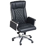 Ferraghini office chair with broad arm rest, black