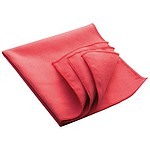 Microfibre cleansing cloth (32 x 32 cm), red