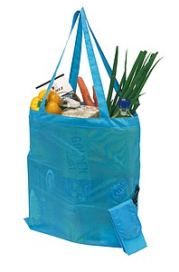 Shopping bag with long handles,colour turquoise