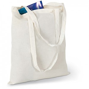 Shopping bag with long handles, beige