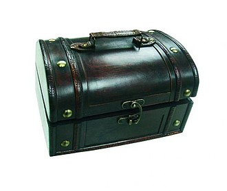 LAPOLINA wooden treasure chest, micro