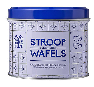 Can with Dutch pattern, for Ducth waffles