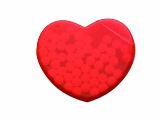 Heart shape peppermint box, red