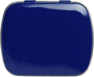 Tin case with mintsBlue