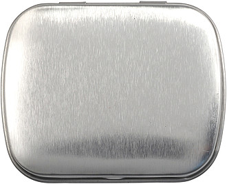 Tin case with mintsSilver