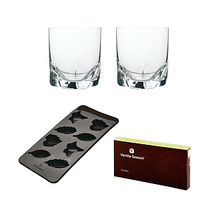 VS TULUFAN Silicone mould set with 2 glasses, brown