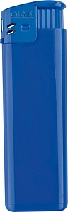 Electronic lighter, refillable, blue