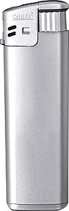 Electronic lighter, refillable, grey