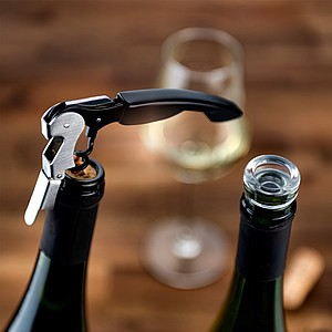 VS YANARIA Practical wine set of 2 bottle stoppers and a corkscrew