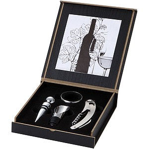 4 pcs Wine Set Wooden Gift Box