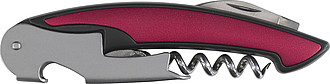 Three function bar knife Burgundy