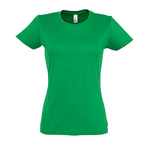 WOMENS ROUND NECK T-SHIRT IMPERIAL WOMEN, KELLY GREEN, L