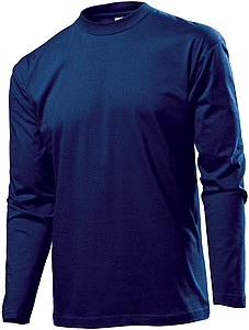 Stedman Classic-T Long Sleeve Men, navy blue, M