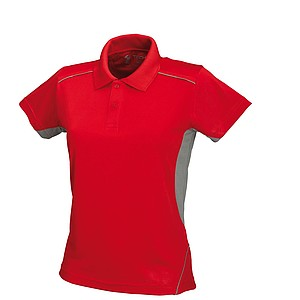 SCHWARZWOLF PALISADE polo shirt, MEN red/grey L