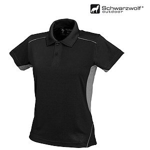 SCHWARZWOLF PALISADE polo shirt, MEN black/grey XL