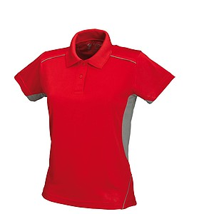 SCHWARZWOLF PALISADE polo shirt, WOMEN red/grey M