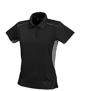 SCHWARZWOLF PALISADE polo shirt, WOMEN black/grey M