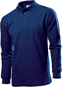 Stedman Polo Long Sleeve, navy blue, XXL