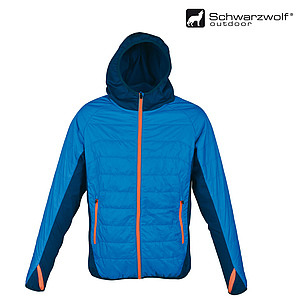 SCHWARZWOLF MODOC jacket, men, blue/orange zipper, L