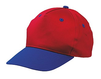 "5 panel cap ""Calimero"" for children,colour red, blue"