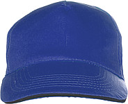 Cap with sandwich peakCobalt blue