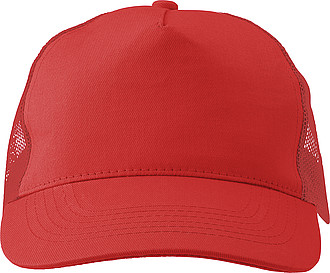 Cotton twill and plastic cap with five panels