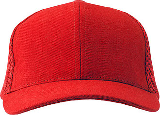 100% heavy brushed cotton twill cap with 6 panels