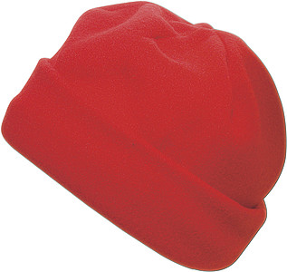 Fleece hat.Red