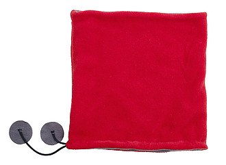 Polyester fleece (240 g/m2) scarf and beanie in one