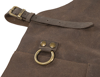 Split leather apron