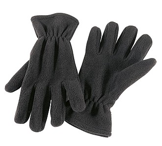 "Polar fleece gloves ""Antarctic"",colour black"