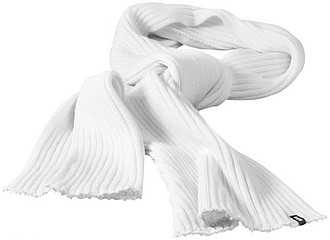 Broach Scarf White