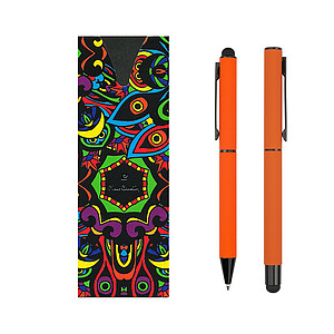 PC CELEBRATION SET Ballpoint pen and Roller, orange