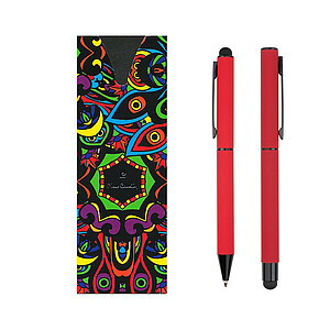 PC CELEBRATION SET Ballpoint pen and Roller, red