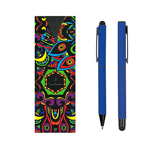 Pierre Cardin CELEBRATION SET ballpoint pen and roller, dark blue