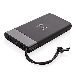 Aria 8.000 mAh 5W wireless charging powerbank,black